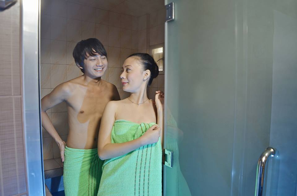 Couple in the Steam Room